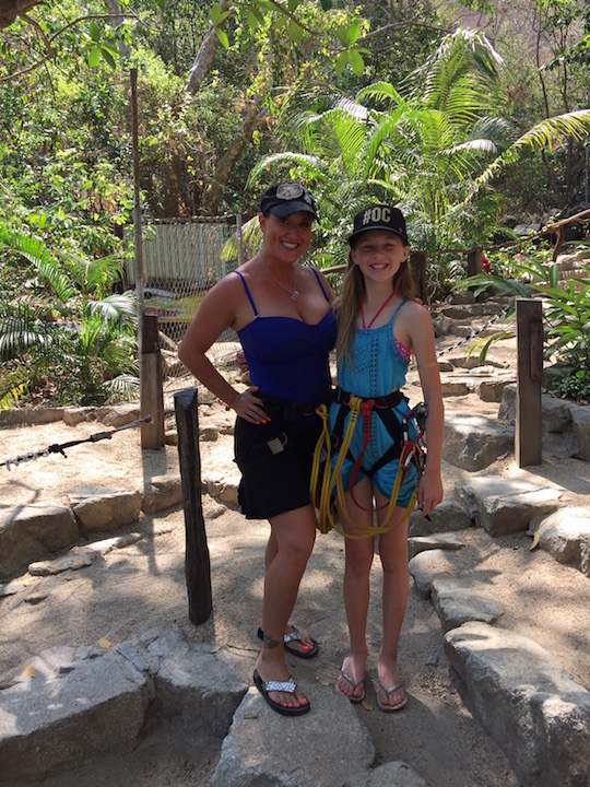Having a blast with at a zip line in puerto vallarta