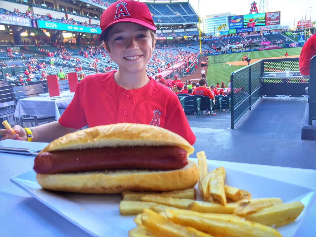Hot dog at the Angel's game