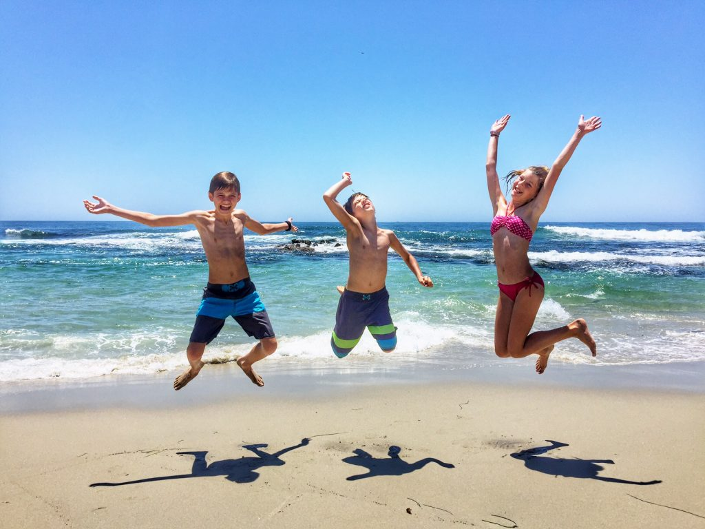 Kids having fun in La Jolla