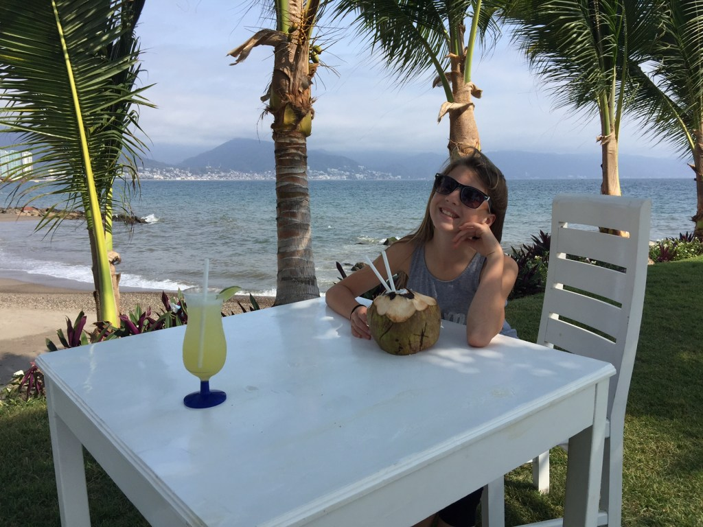 Lunch with my daughter at the Marriott in Puerto Vallarta