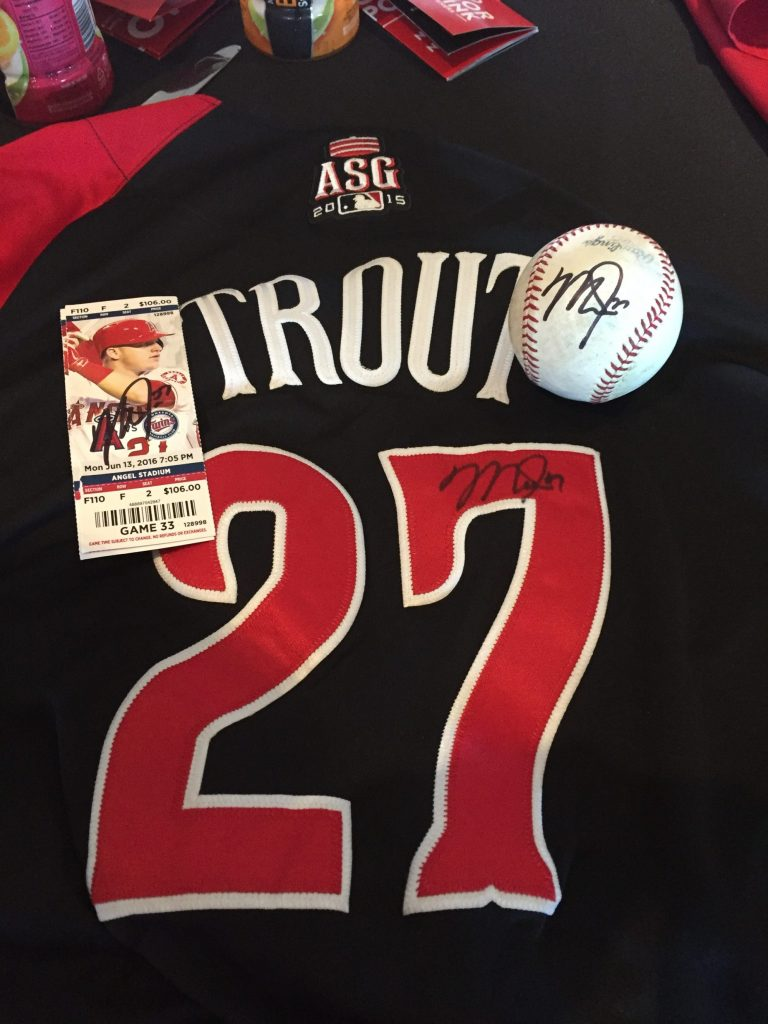 Signature from Mike Trout