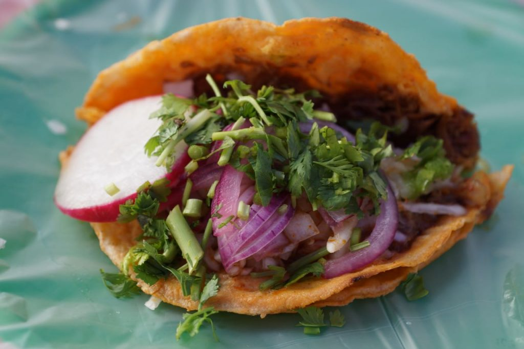 Taco Dorado at Tacos Robles in Puerto Vallarta