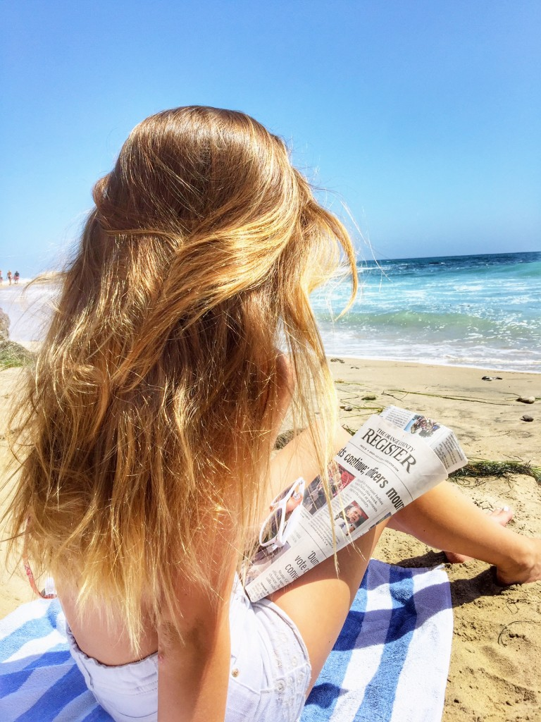 Wind in our hair while looking at the OC Register