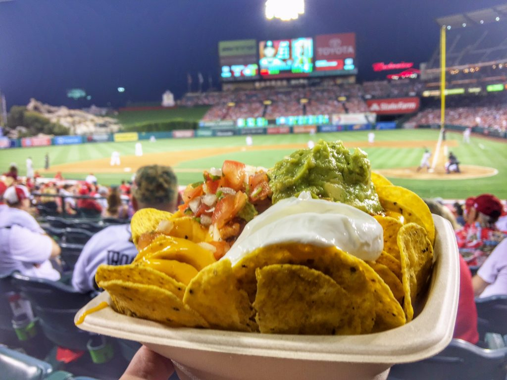 nachos at the Angel's game