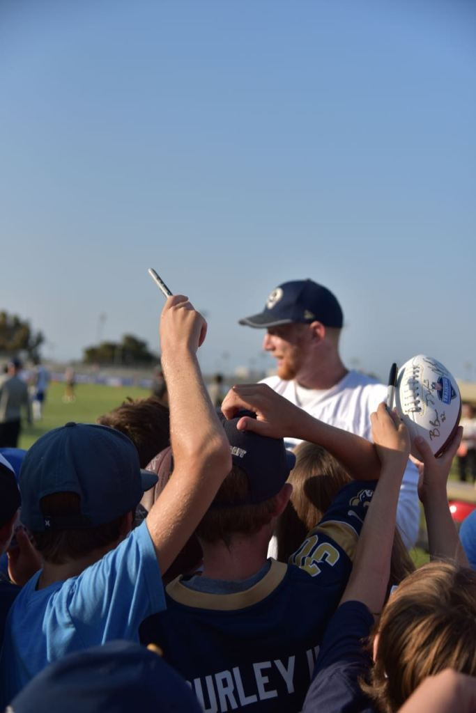 Asking for LA Rams autographs