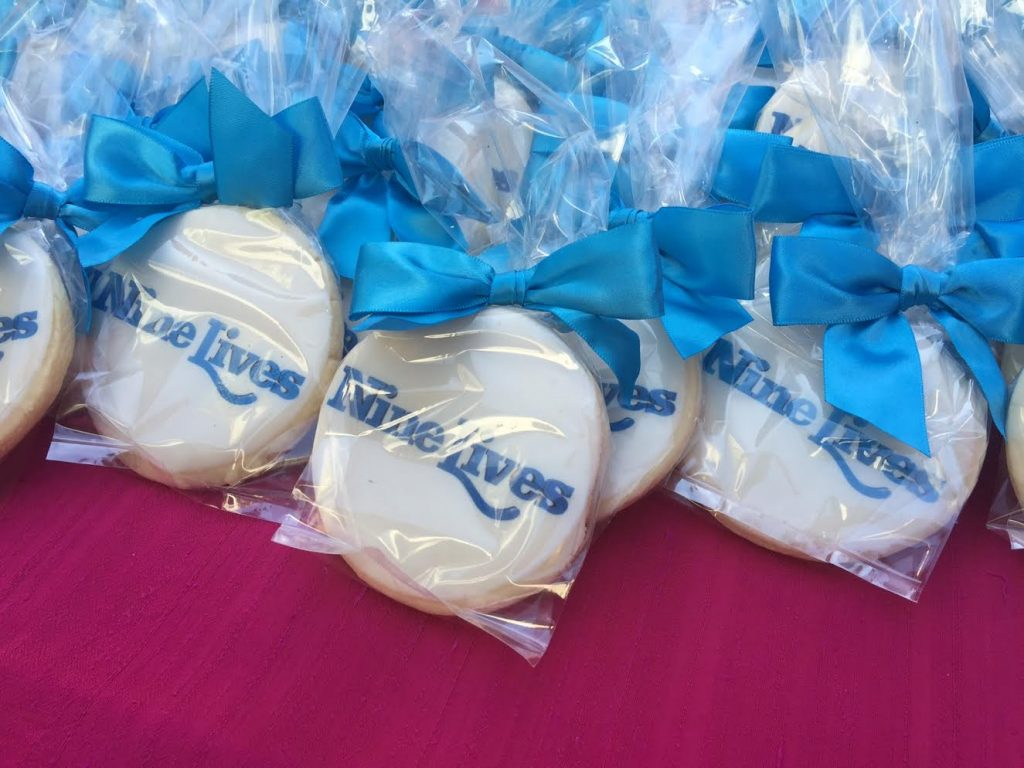 Cookies served at the Nine Lives Premiere