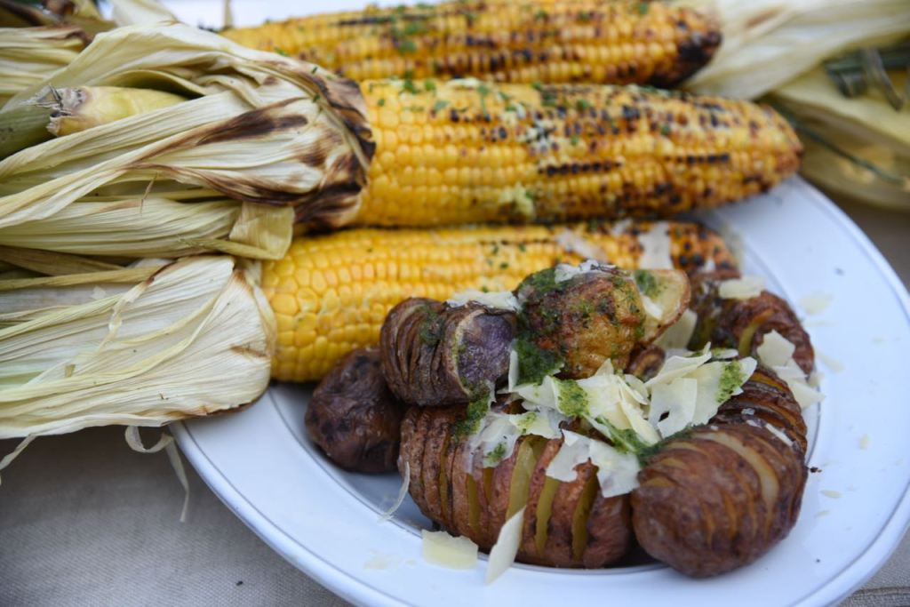 Corn and potatoes