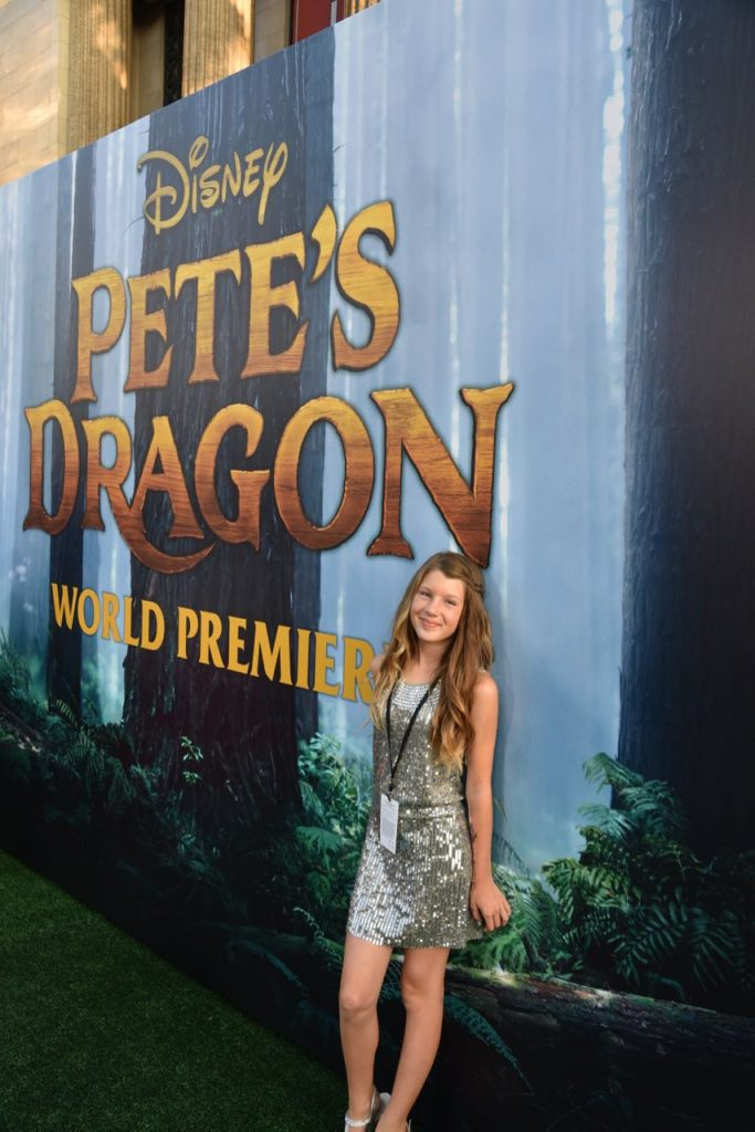 Ella Barone at the Pete's Dragon Premiere