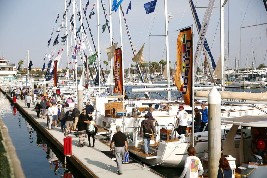 Exploring the boat show