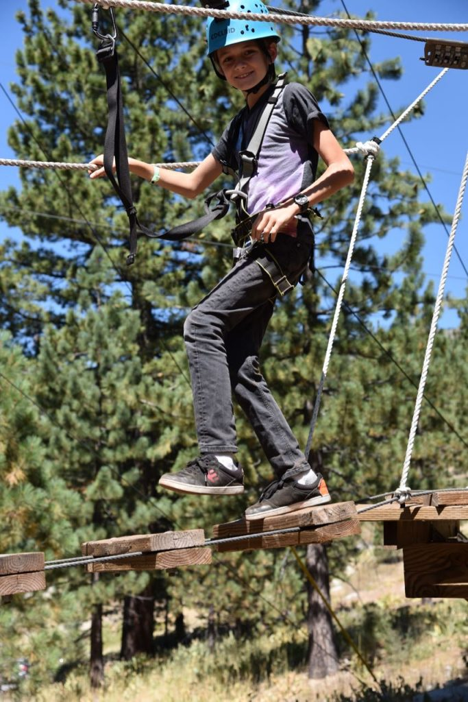 Fun at the squaw valley high ropes