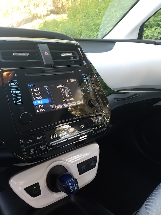 Interior of 2016 Prius