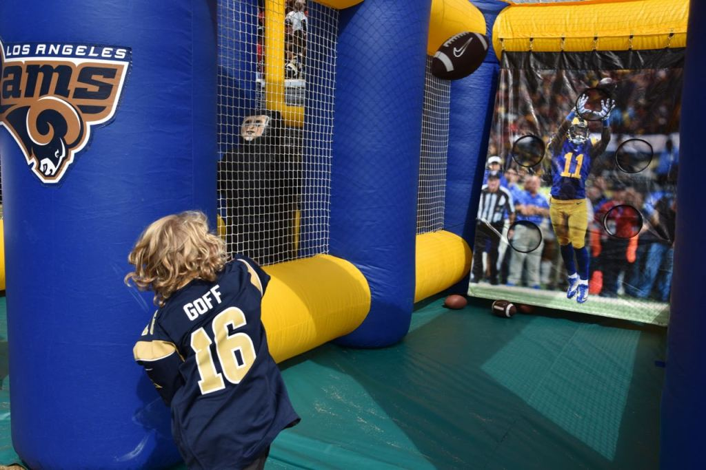 Practicing Football at the Rams Training Camp