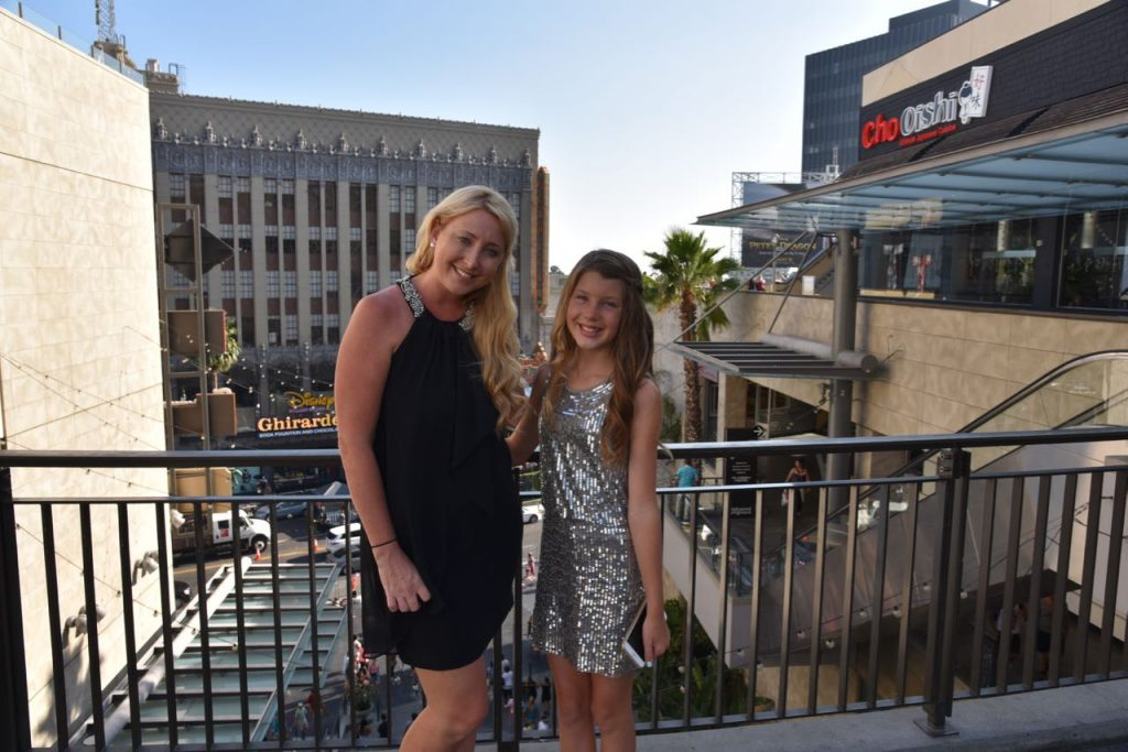 Shelby and Ella attending the Pete's Dragon Premiere
