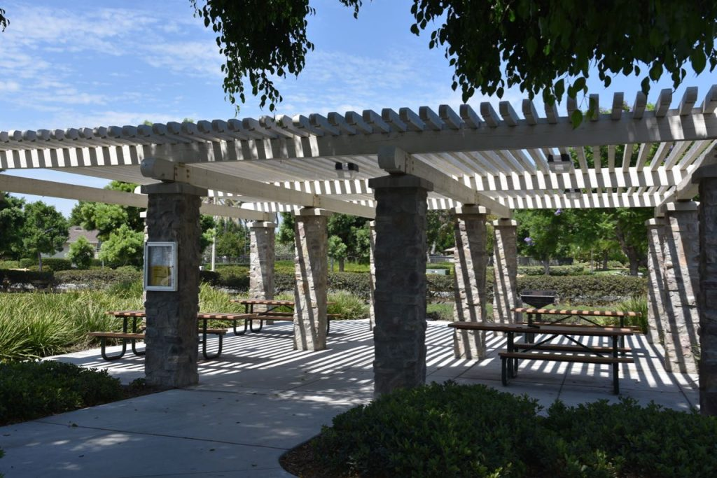 covered party area at sweet shade park