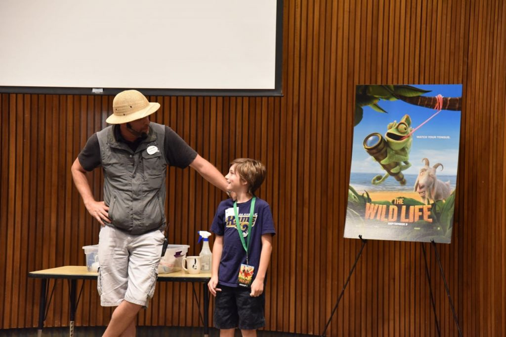 tyler-participating-in-the-san-diego-zoo-sleepover-stage-show