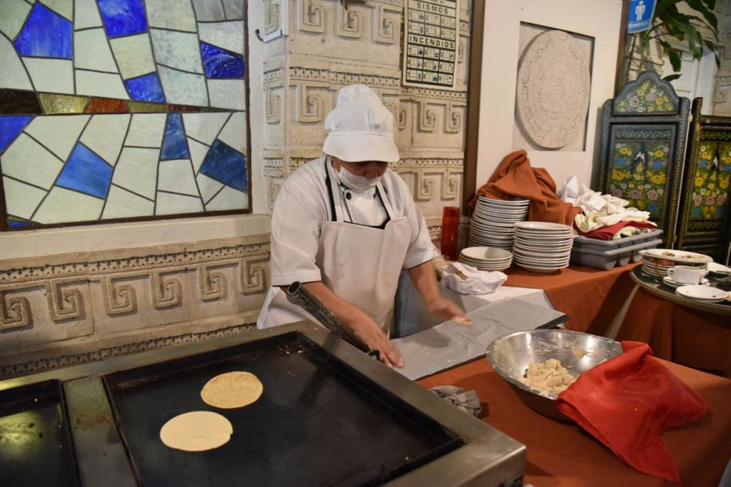 Making Quesadillas at Gran Teocalli