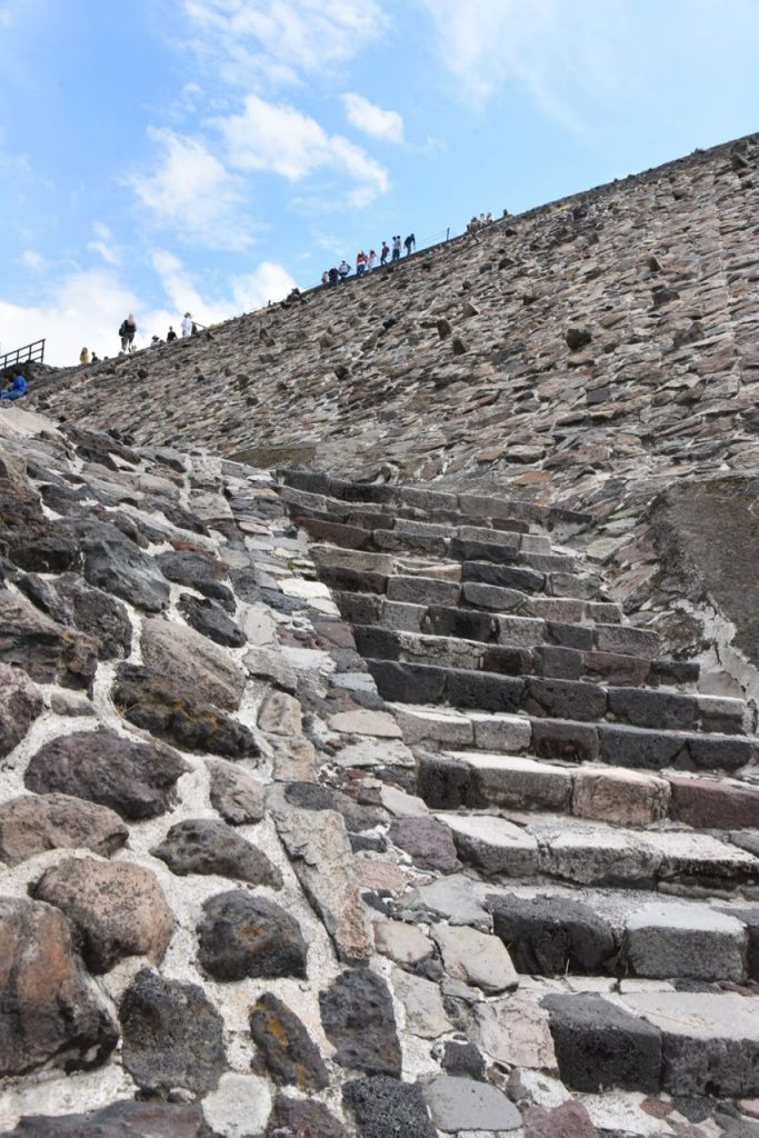 Stairs Leading to the Top of the Pyramid of the Sun