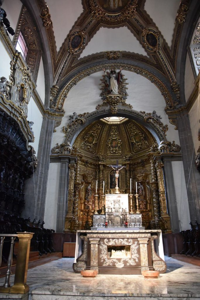 Alter in the Old Basilica of Our Lady of Guadalupe