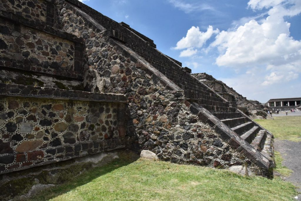 Stairs Leading up to a Smaller Pyramid in Teotihuacan