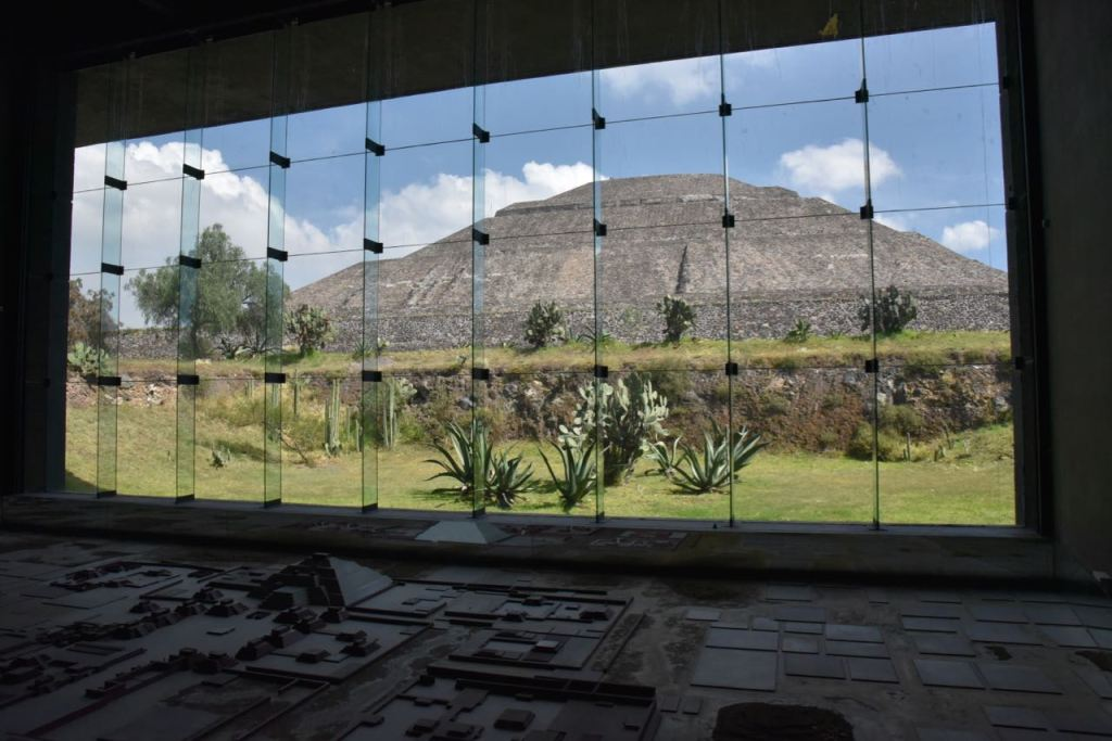 View of the Pyramids from Museo Teotihuacan