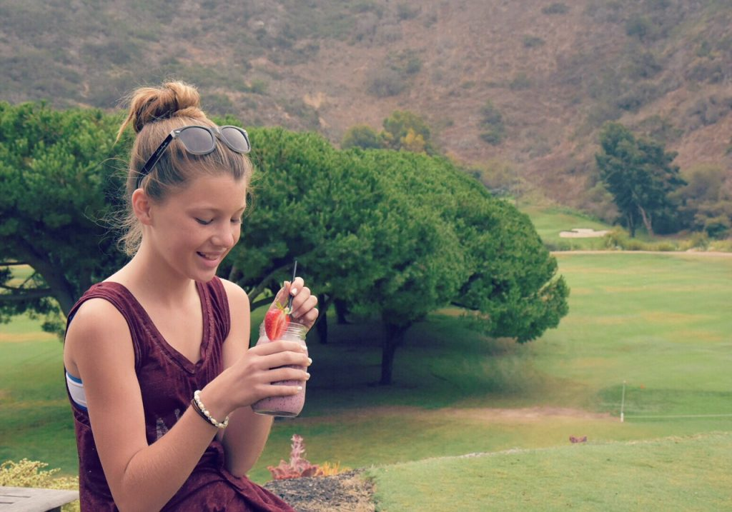 enjoying-a-smoothie-at-the-ranch-lb