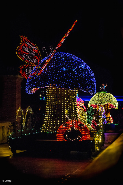 Alice in Wonderland at the Main Street Electrical Parade