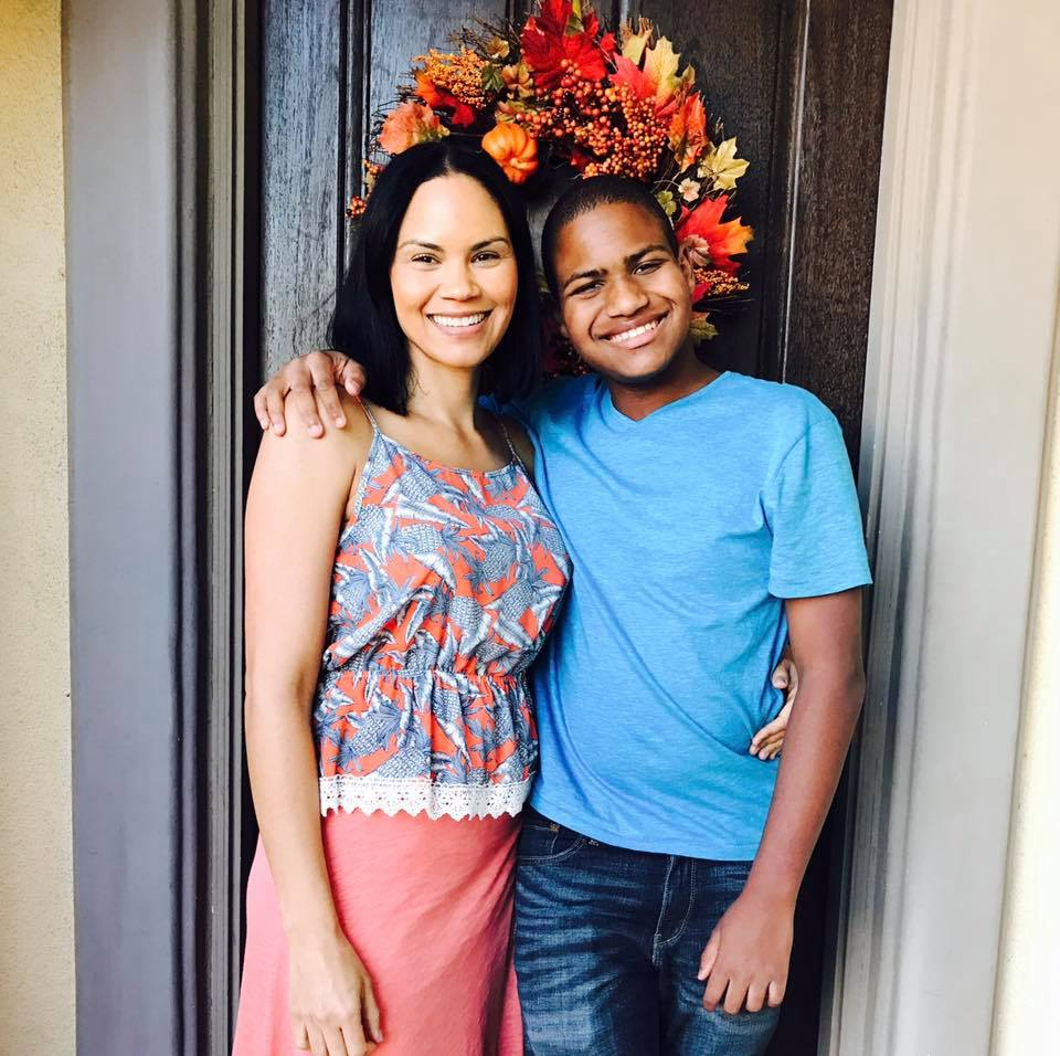 Chase Bailey and his Mom in Los Angeles