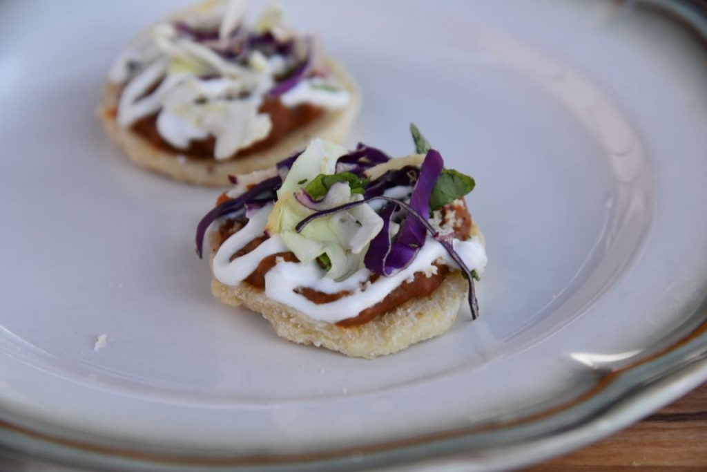 Chorizo Bean Sopes with Cotija cheese and fresh crèma at Disney's Festival of Holidays