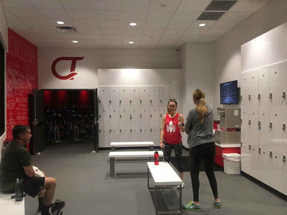 Cyclebar Locker Room