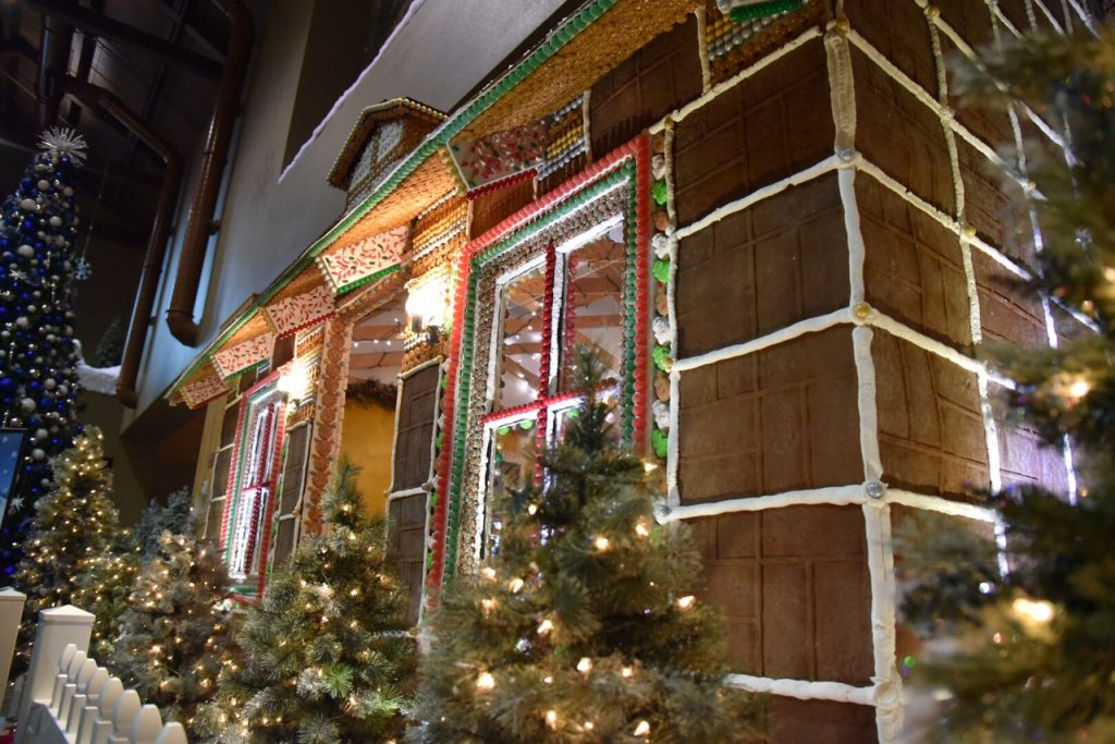 dine inside a life size gingerbread house