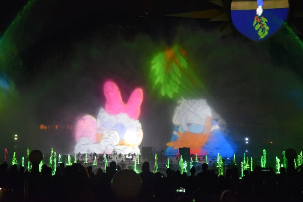Donald and Daisy in World of Color – Season of Light