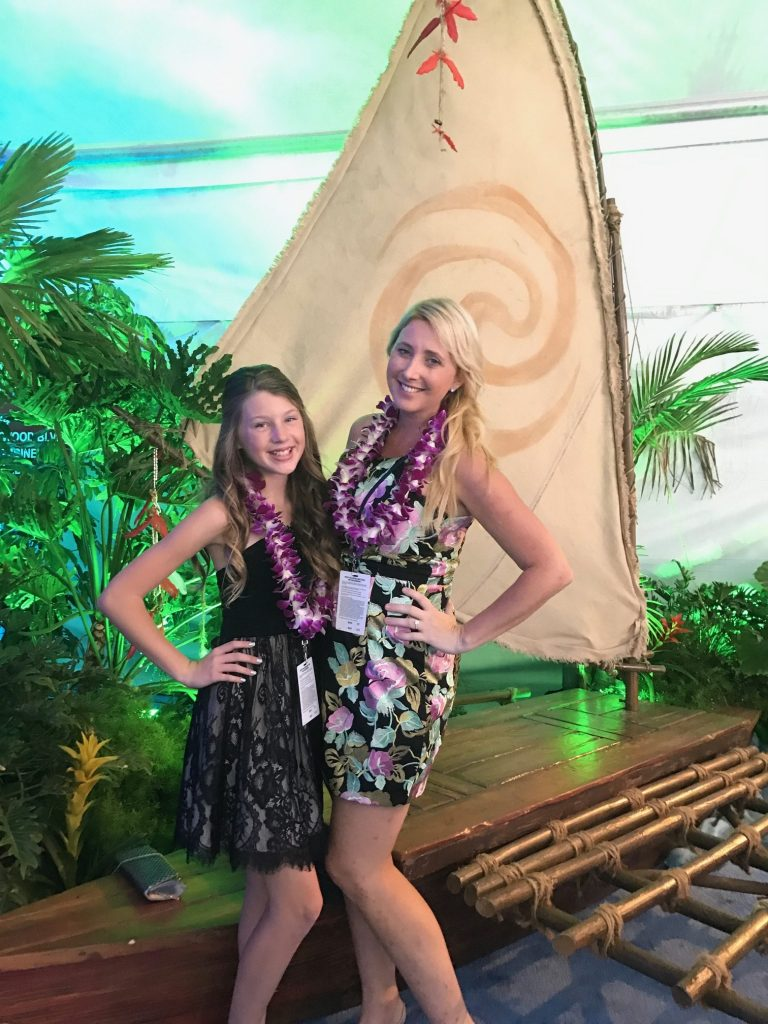 Ella and Shelby at the Moana World Premiere
