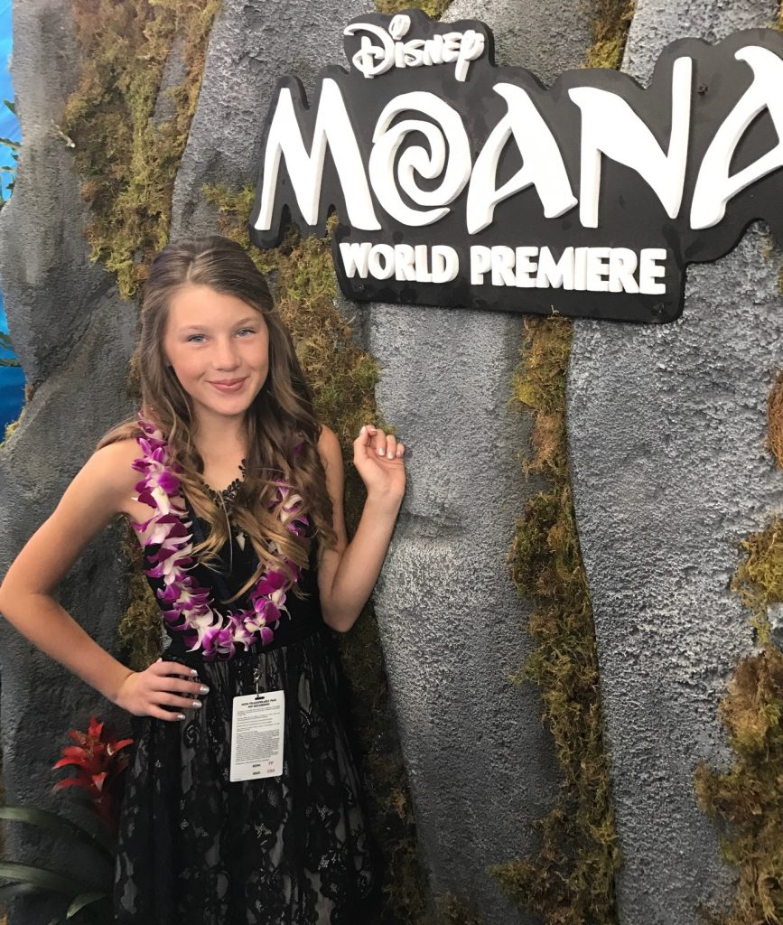 Ella at the Moana World Premiere