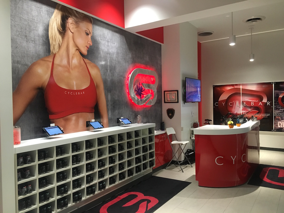 Entrance to CycleBar