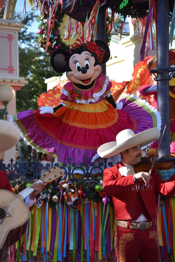 Minnie Mouse in the Disney ¡Viva Navidad! Street Party