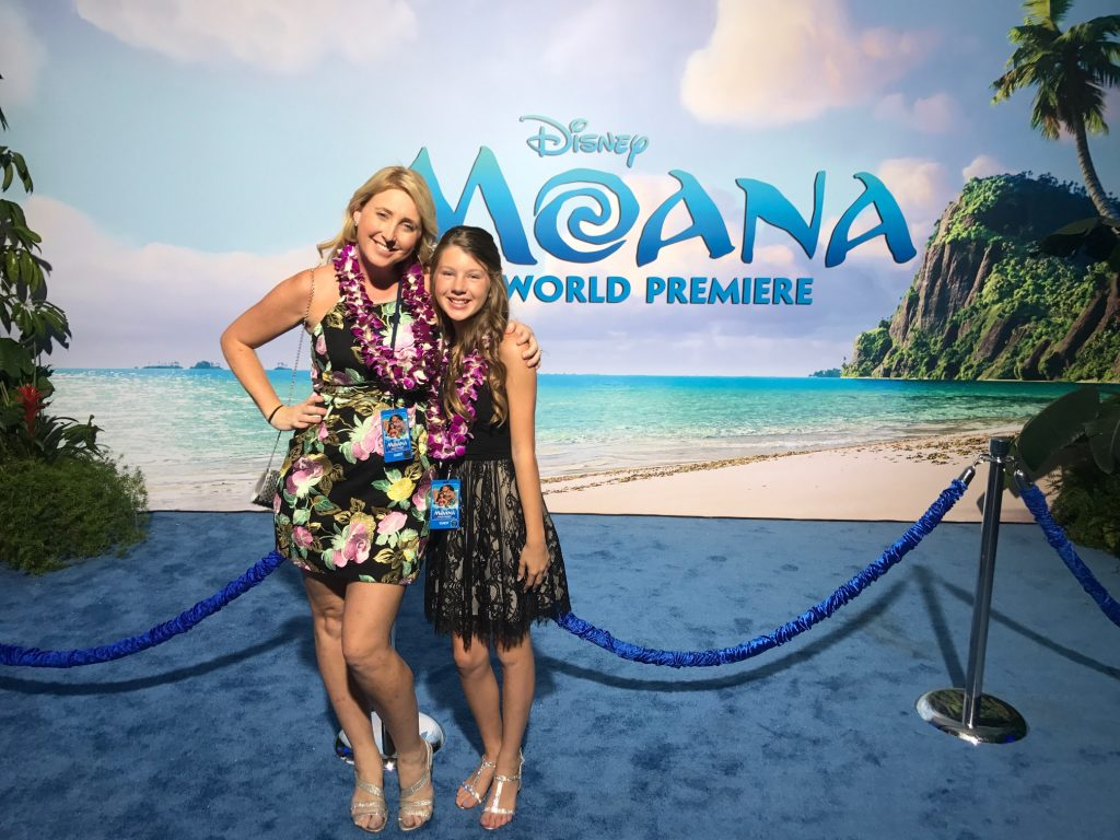 OC Mom Blog at the Moana World Premiere