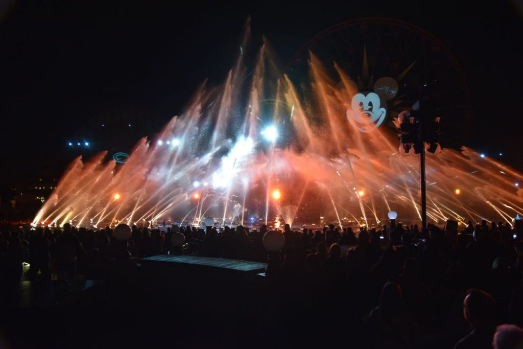 The start of World of Color – Season of Light