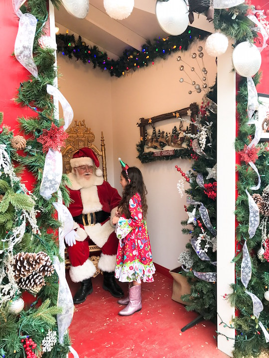 Visiting Santa at the Sawdust Festival