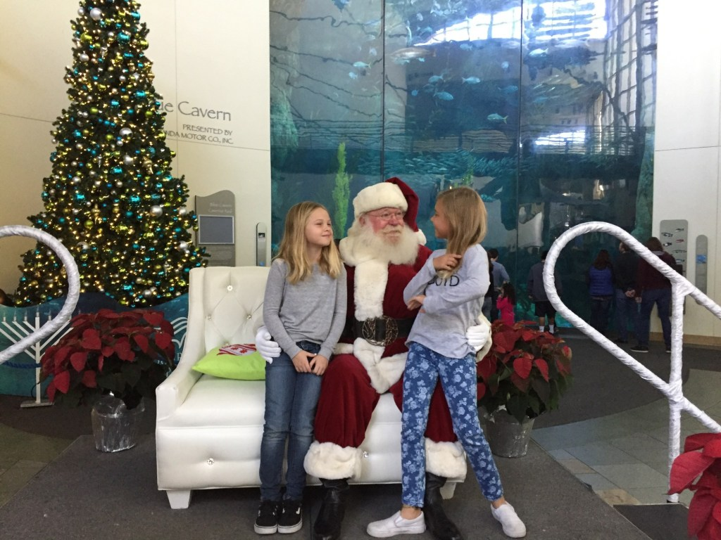 Visiting Santa at The Aquarium of the Pacific