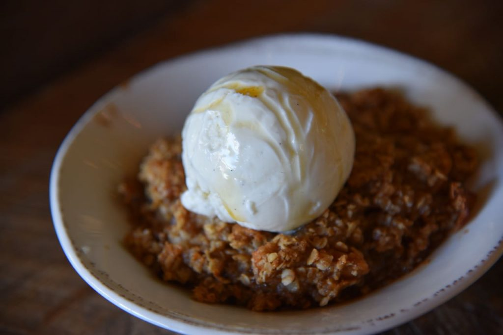 Apple Crisp at The Farmhouse at Rogers Gardens