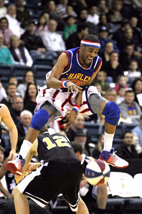 Cheese Chisholm from the Harlem Globetrotters