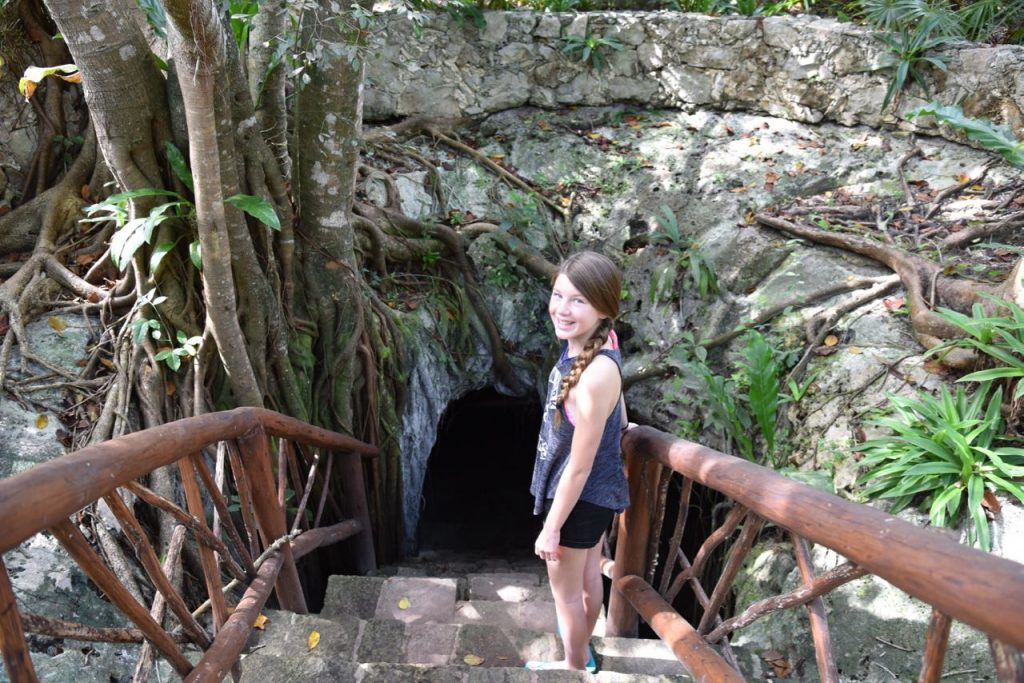 Excited to see inside of a cenote in Mexico