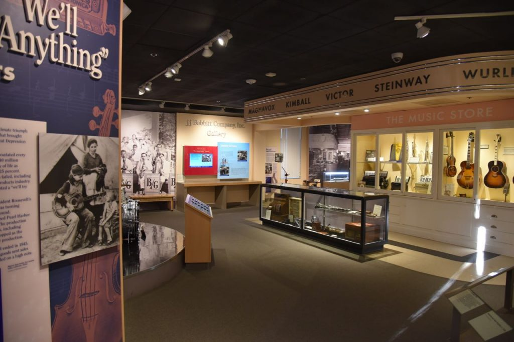 Exhibits inside of the Museum of Making Music