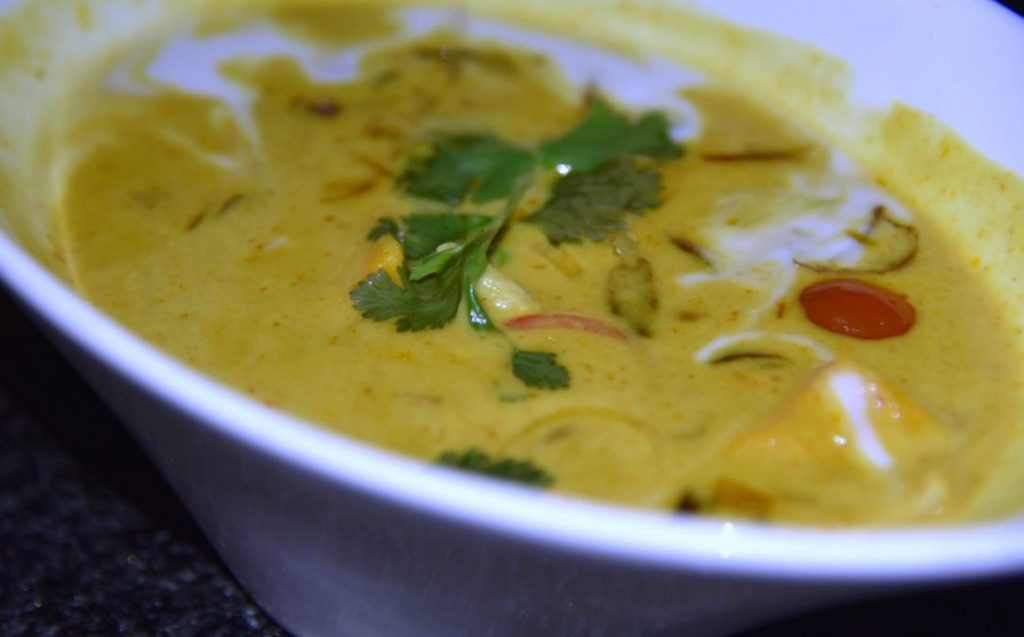 Gaeng Karee Gai Curry at Saffron at Banyan Tree Restaurant in Mayakoba