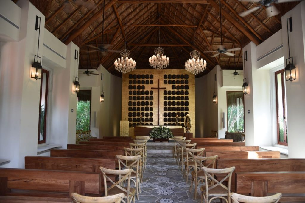 Inside the Mayakoba church