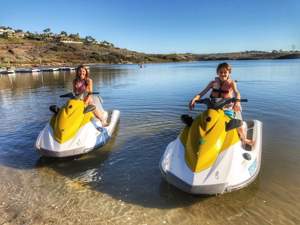 Jet ski at the Carlsbad Lagoon