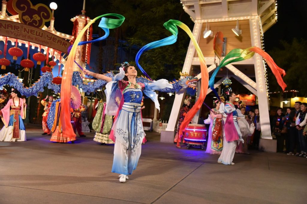 Lunar New Year procession with Mulan