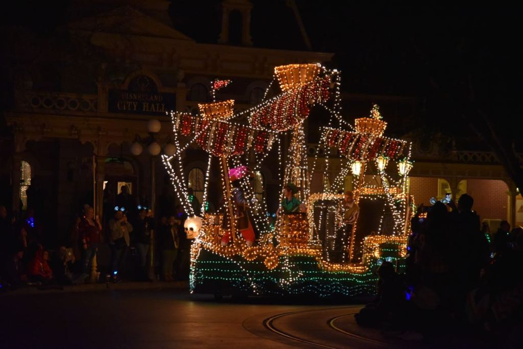 Pirate ship in the Main Street Electrical Parade