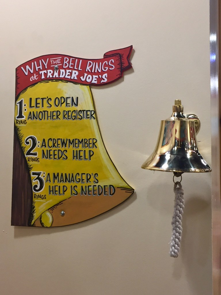 Ring the bell in the Pretend City Trader Joe's