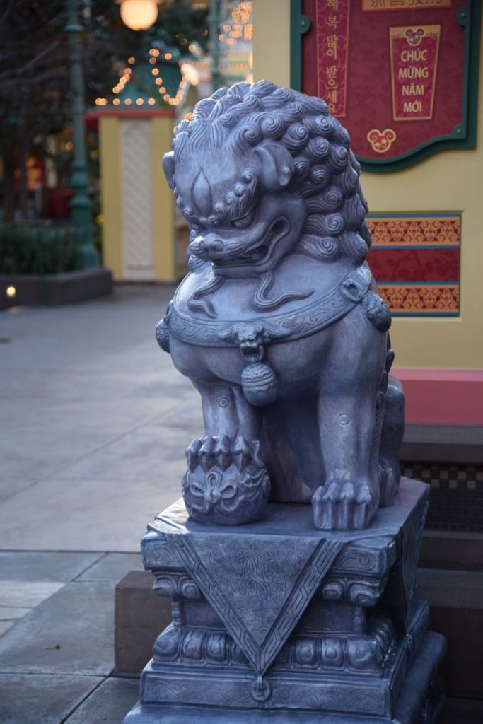 Statue at the Lunar New Year at Disney California Adventure Park